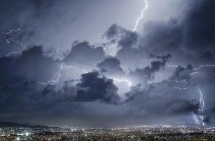 Εικόνα καταιγίδας σε μικρογραφία