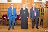 Επίσκεψη του Δημάρχου Πετρούπολης Στέφανου Γαβριήλ Βλάχου στον Αρχιεπίσκοπο Αθηνών και πάσης Ελλάδος κ. Ιερώνυμο