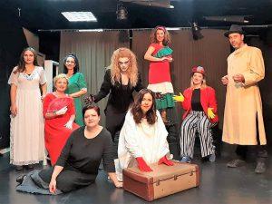 Απεικονίζονται οι ηθοποιοί της παράστασης Λορκα