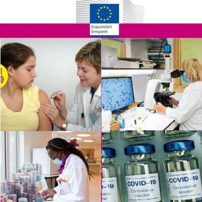 Ενημερωτικό υλικό για την καμπάνια εμβολιασμού covid-19 της Ευρωπαϊκής Επιτροπής και του Εθνικού Οργανισμού Δημόσιας Υγείας